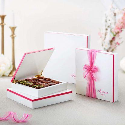 White Pink Wood Gift Box