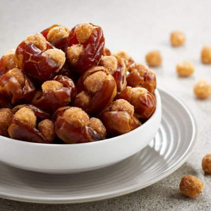 delicious kholas dates with caramelised hazelnuts