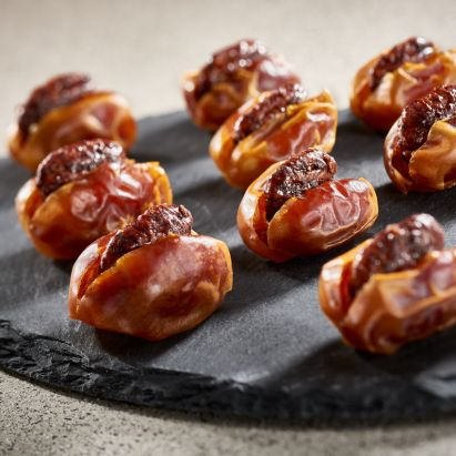 high quality Kholas dates with Caramelised Pecan