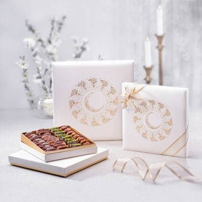 shop for Eid Mubarak White Gift Box