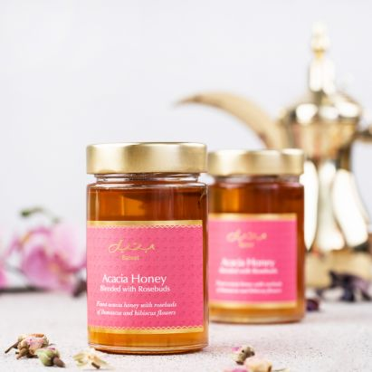 acacia honey blended with rosebuds by bateel