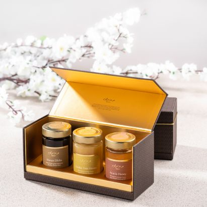 buy online honey gift set in lux packaging