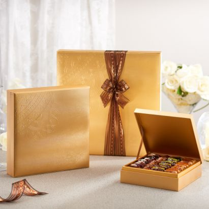 exclusive Danica gold gift box