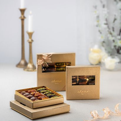 buy gold leather gift box