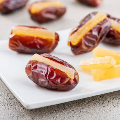Khidri Dates with Candied Ginger