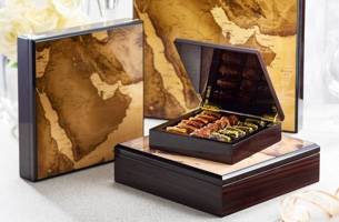 Charming wooden gift box