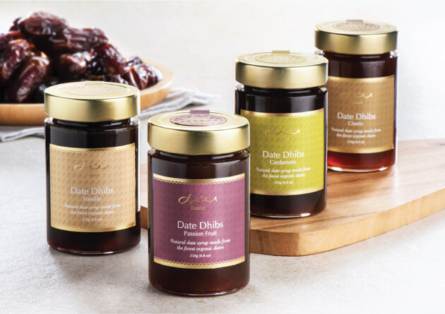 Discover our new selection of flavoured Date Dhibs